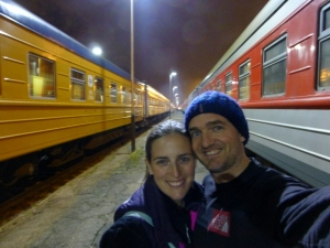 During a stop on our Vilnius to St Petersburg journey