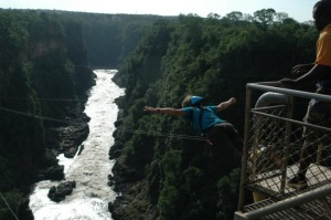 Jumping off the Victoria Falls Bridge