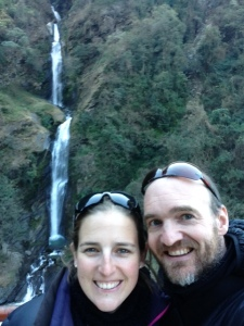 First waterfalls in Nepal