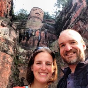 At the Leshan Giant Buddha