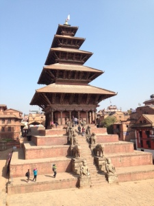 One of the many temples in Bhaktapur