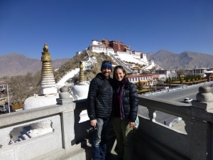 Overlooking the magnificent Potala Palace
