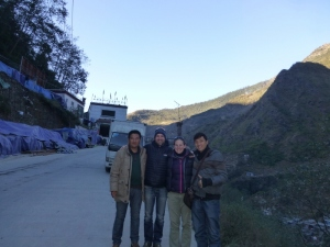 Dorje, Dean, Me and Tashi just before we crossed the border