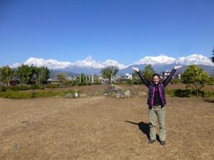 The Annapurna range from the Mountain Museum