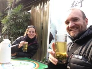 Jasmine tea in Chengdu