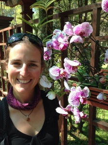 Natalie in the botanical gardens of Pyin Oo Lwin