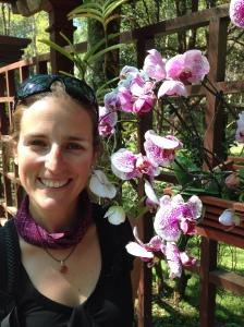 Natalie in the botanical gardens of Pyin Oo Lwin