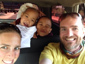 Our taxi buddies posing for a selfie