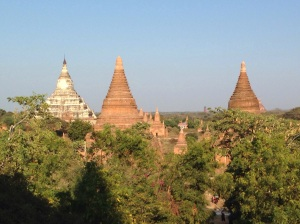 Some of Bagan's Pagoda soaring over the landscape