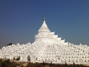 The stunning white pagoda in Mingun