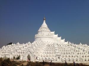 The stunning white pagoda in Mingun