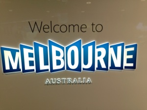 The sign at Melbourne Airport
