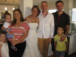 Best Man Matt and his gorgeous family