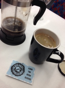 Local Camden coffee provided by Black Sheep Coffee