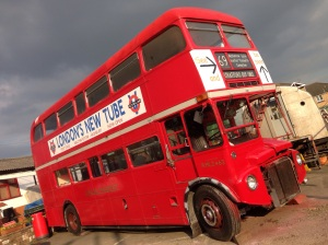 One of the Routemaster London buses currently being restored