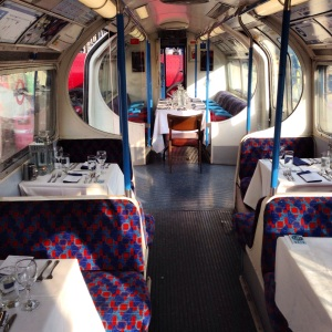 The tube carriage set for dinner