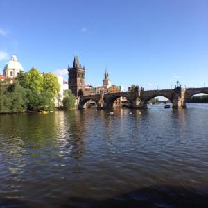 Charles Bridge as seen from the River