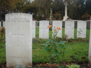 One of the many Commonwealth War Graves around Poperinge