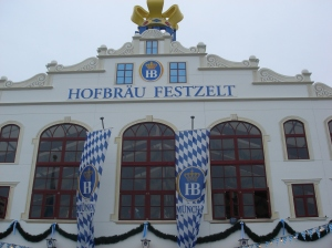 The Hofbrau tent main entrance