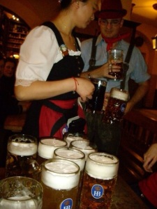 With steins costing around 10 Euro this year it could be an expensive shout