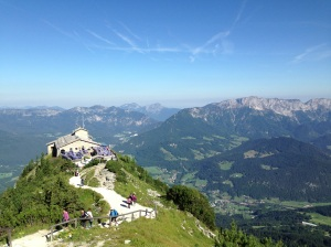 Looking down over Berchtesgaden and the Eagle's Nest