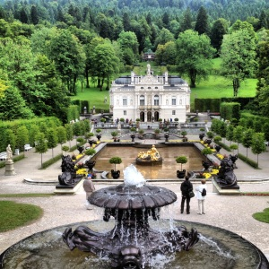 The smallest and only palace to be completed, Linderhof