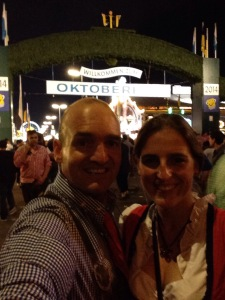 At the main entrance to Oktoberfest grounds