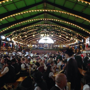 A sense of the size of the Augustiner Beer tent