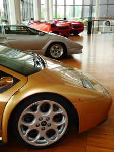 Lamborghini has most makes and models on show in their much smaller museum