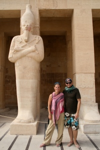 The two of us at the Hatshepsut