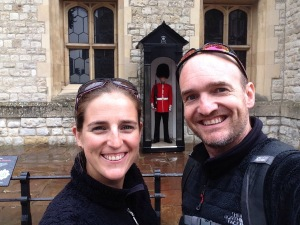 Selfie with one of the Beefeaters at the Tower of London