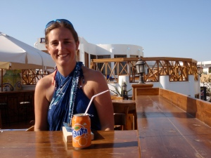 Natalie relaxing in Dahab before we met