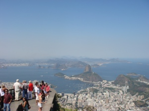 Looking out towards Rio below