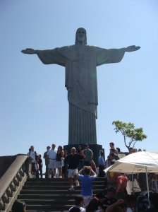 Christ the Redeemer towering over the city of Rio