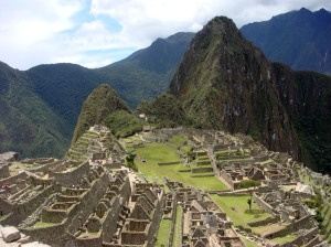 The must have photo of Machu Picchu with the mountain of Wayna Picchu in the background