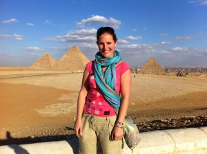 Natalie was visiting the Pyramids while I was stuck on a plane