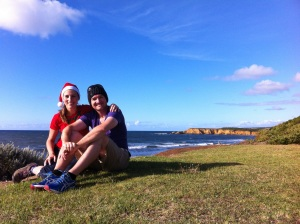 Christmas in Torquay Australia two years ago