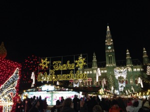 The entrance to the Rathaus Christmas Markets