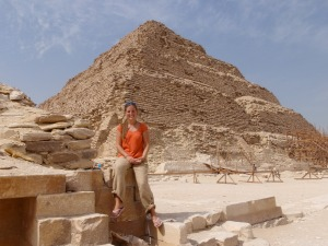 Natalie at the step pyramid a few Christmas' ago
