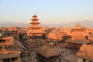 A historic old town, Himalayan views and dusty pigeon filled streets, right up Bond's alley