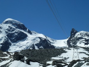 A cable-car ride to a Villian's mountain lair. Switzerland has long been Bond's stomping ground