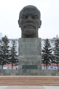The largest statue of Lenin's head in the world!