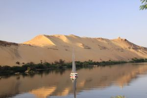 Sailing down the Nile, Agatha Christie style