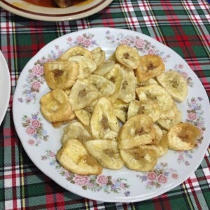 Banana chips, a staple of most meals