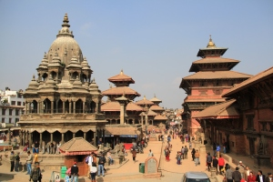 Much of Patan Durbar Square now lays in ruins...
