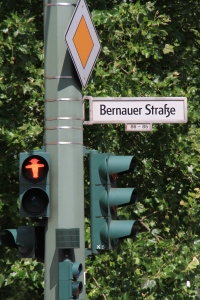 Bernauer Strasse was one of the most important sites of the Berlin Wall, and Ampelmann still stands guard today