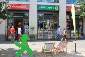 One of the many Ampelmann stores throughout Berlin. Do you really need those ice cube trays, well yes!